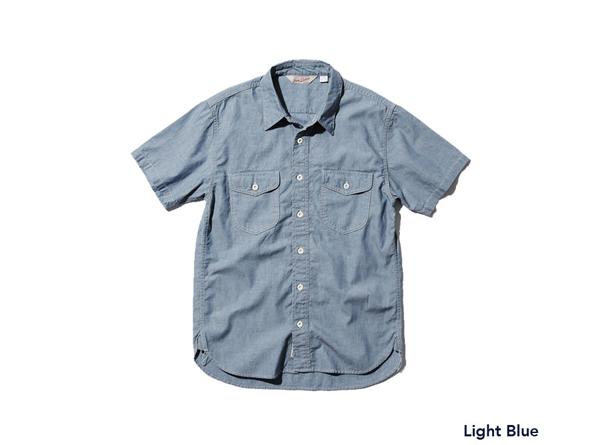 シャツ-ブルー
