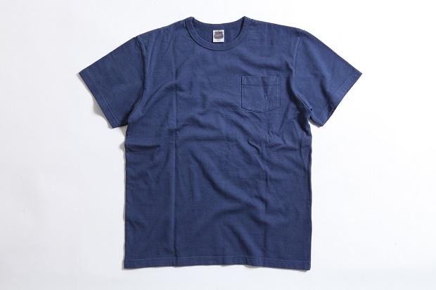 Tシャツ ポケット ブルー